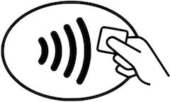 NFCコンタクトレス決済のロゴマーク