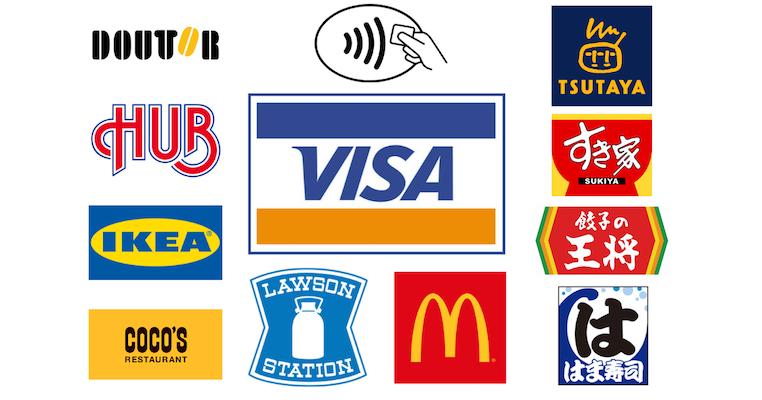 Visaのタッチ決済が使える場所・お店の一覧