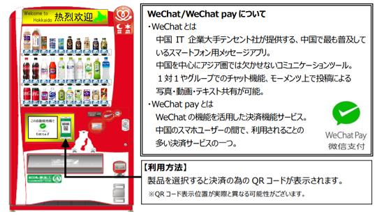 WeChat Pay 対応自販機がサツドラに設置済み