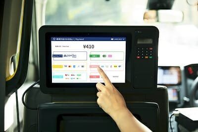 JapanTaxi のタブレット端末